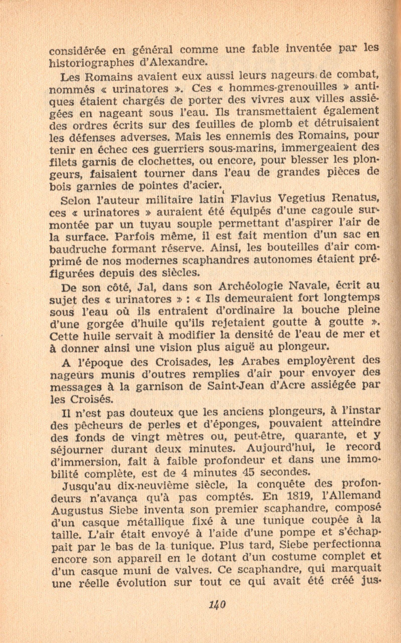 p140, La conquête des fonds sous-marins, marabout chercheur