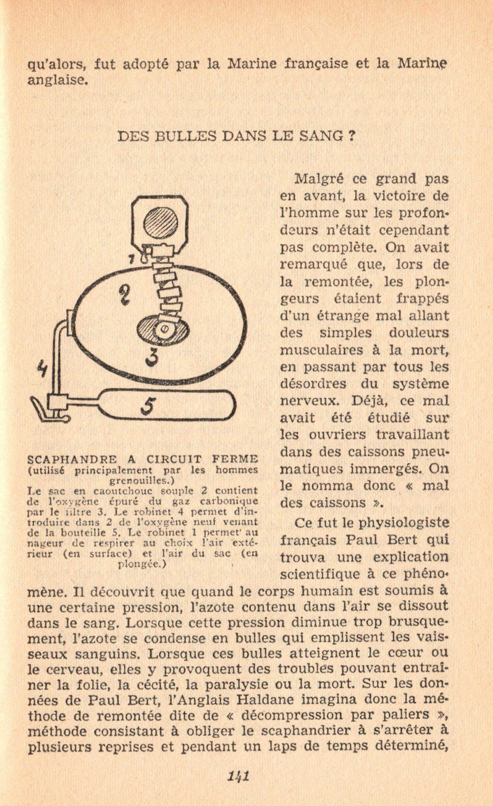 p141, La conquête des fonds sous-marins, marabout chercheur