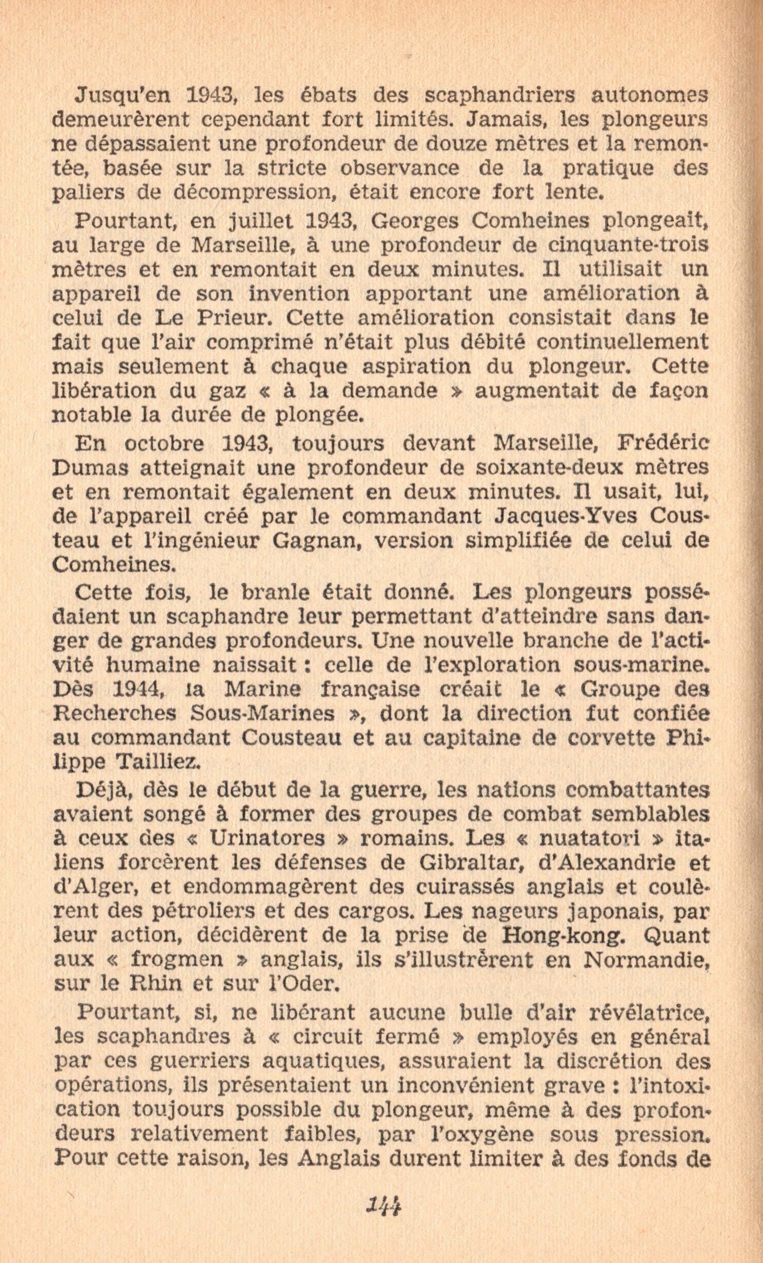 p144, La conquête des fonds sous-marins, marabout chercheur