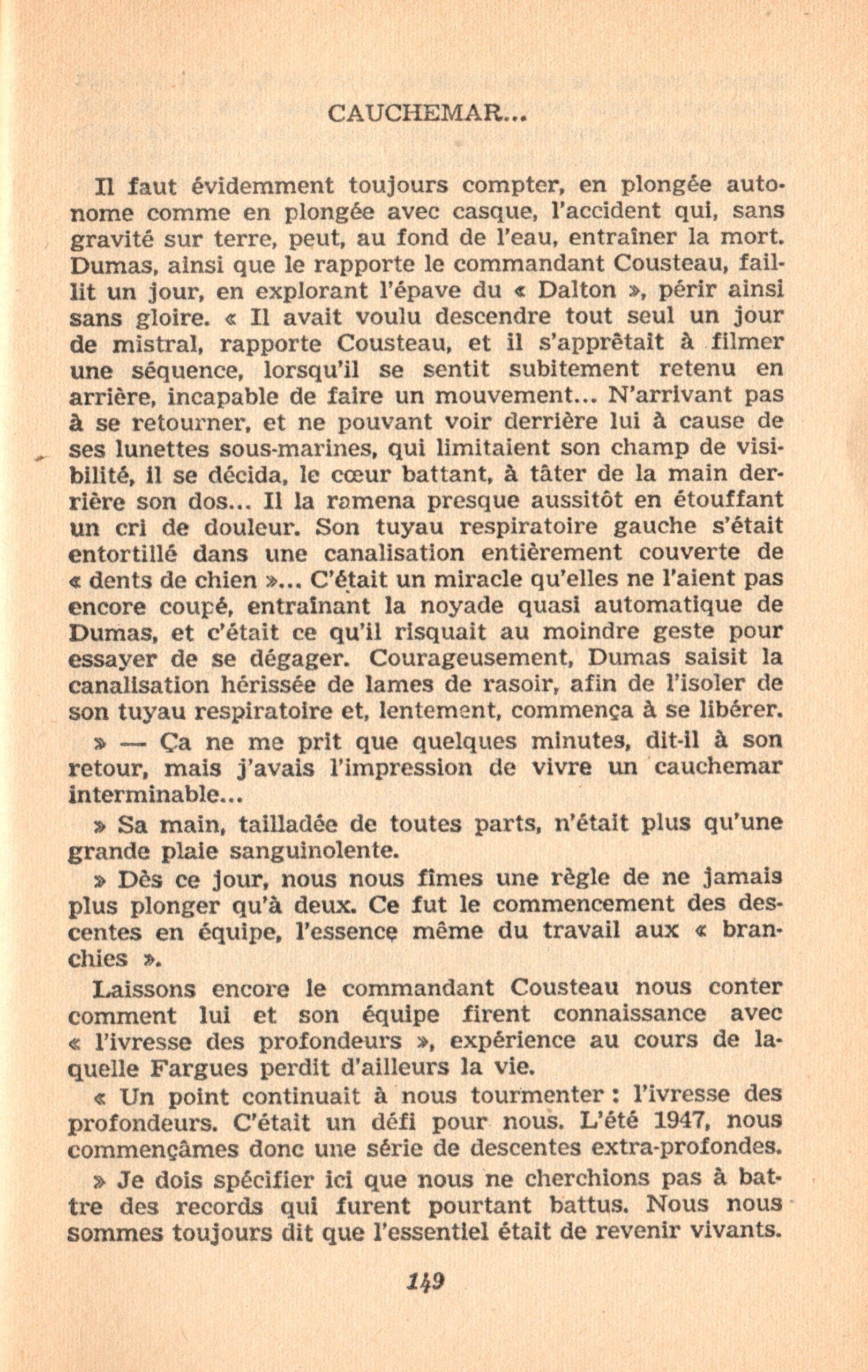 p149, La conquête des fonds sous-marins, marabout chercheur