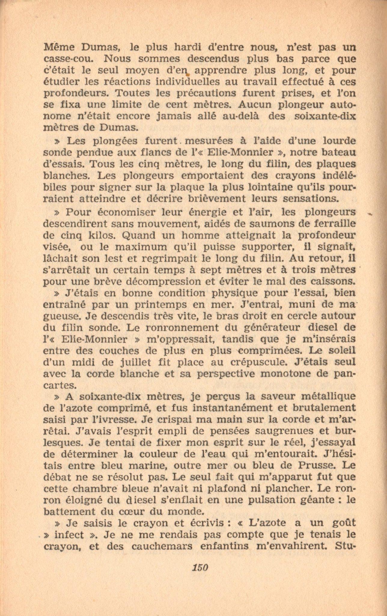 p150, La conquête des fonds sous-marins, marabout chercheur