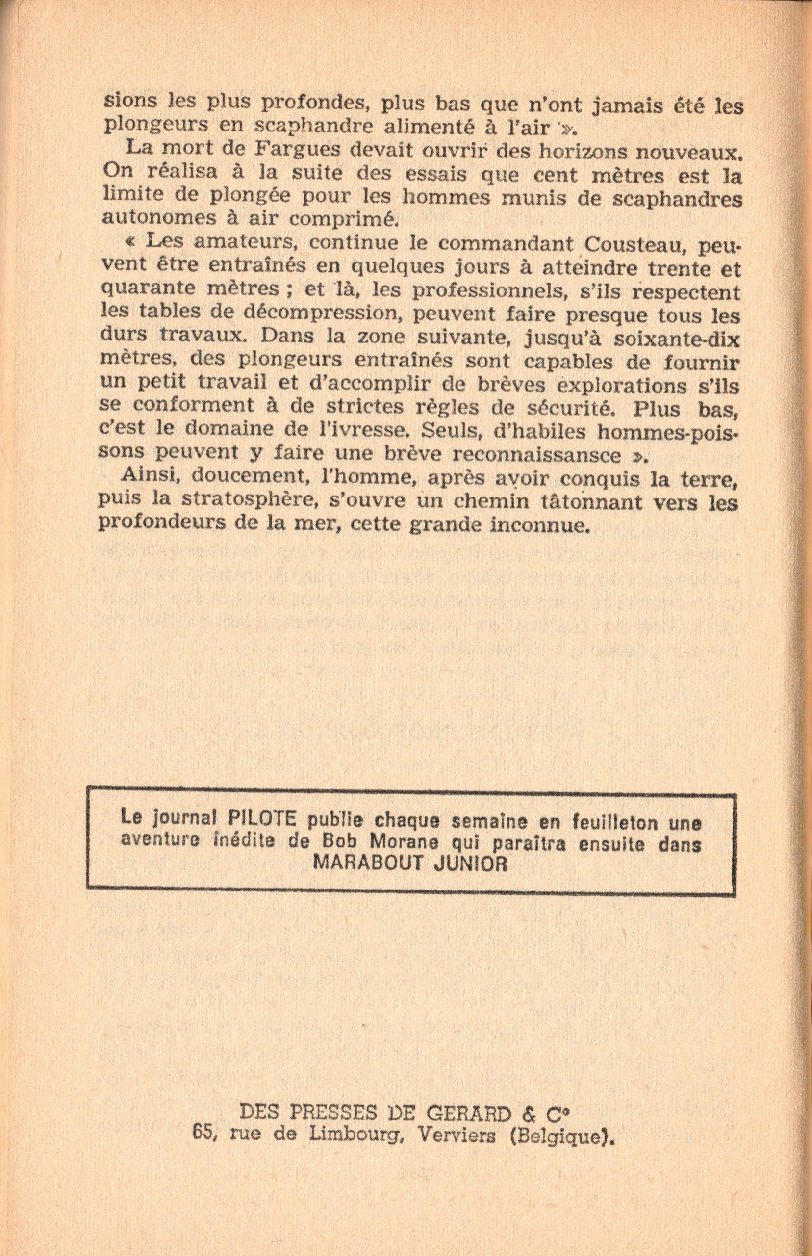 p152, La conquête des fonds sous-marins, marabout chercheur